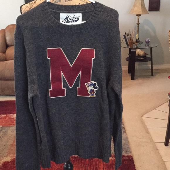 Mickey State Disney Sweaters Mickey State Men Sweater Sz L Poshmark